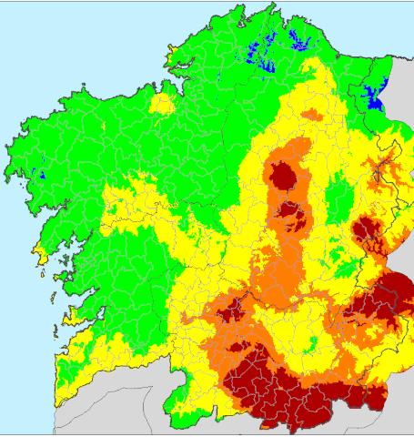 Índice de riesgo diario de incendio forestal